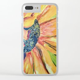 BIG FLOWER Clear iPhone Case