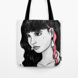 Untitled (pink streak) Tote Bag