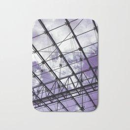 Glass Ceiling V (Portrait) - Ultraviolet Architectural Photography Bath Mat