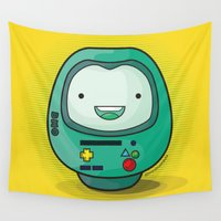 bmo Wall Tapestries featuring Daruma: BMO by Monstruonauta