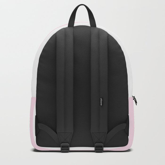 Simple Pink and White stripes, vertical Backpack