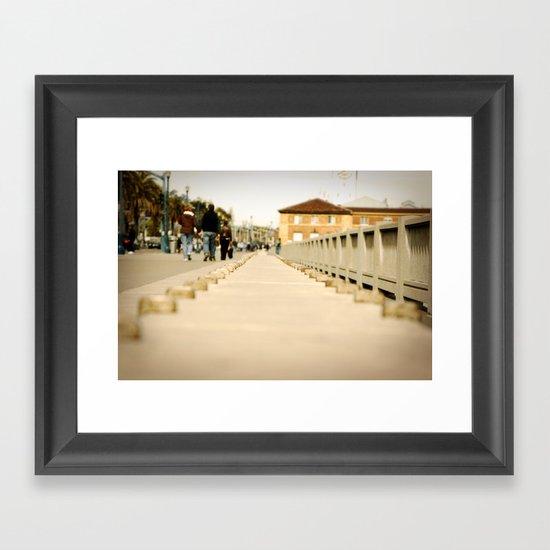 Walking down the Embarcadero in San Francisco Framed Art Print