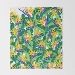 Summer Strelitzia Throw Blanket