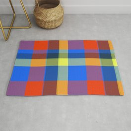 Colorful Tartan Plaid Rug