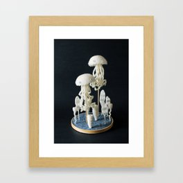 Paleozoic Sea Creature: jellyfish Framed Art Print