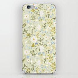 Daisies and Dragonflies (small scale) iPhone Skin