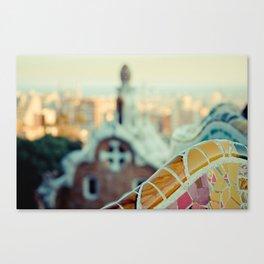 Barcelona: Parc Guell Canvas Print
