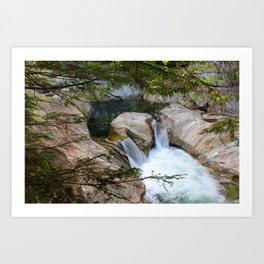 Vermont Waterfall Hideaway Art Print