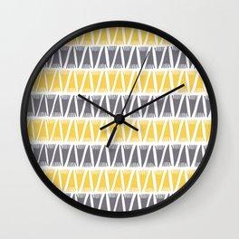 Tee Pee Primrose Yellow Wall Clock