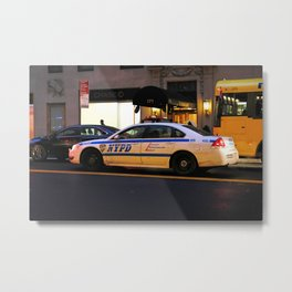 NYPD Squad Car Metal Print