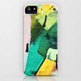 Hopeful[4] - a bright mixed media abstract piece iPhone Case