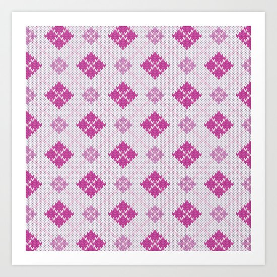 knit argyle Art Print