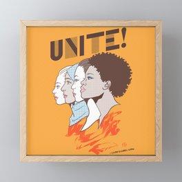 UNITE! Framed Mini Art Print