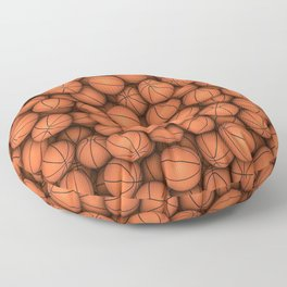 Basketballs Floor Pillow