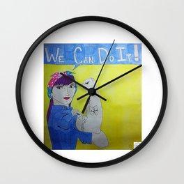 Transgender Rosie the Riveter Wall Clock