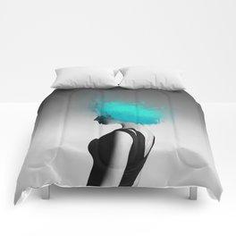 Powder Head Teal Comforters