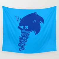 sonic Wall Tapestries featuring Sonic by La Manette