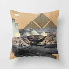 The future a time to reminisce. (mixed media) Throw Pillow