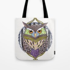 Poorly Camouflaged Owl Tote Bag