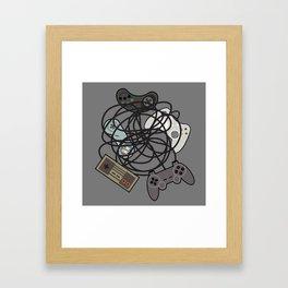 Tangled Joysticks Framed Art Print