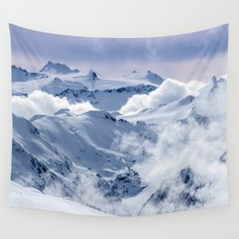 Snowy Mountains and Glaciers Wall Tapestry