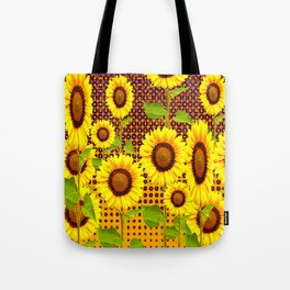 SPICE BROWN SUNFLOWERS ART Tote Bag