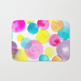 Confetti paint Bath Mat