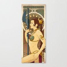 Slave Leia Art Nouveau Canvas Print