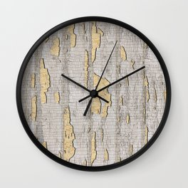 Cracked Paint Wall Clock