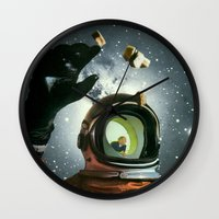 portal Wall Clocks featuring Portal by Peter Campbell