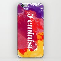feminism iPhone & iPod Skins featuring Feminism Watercolor by Pia Spieler