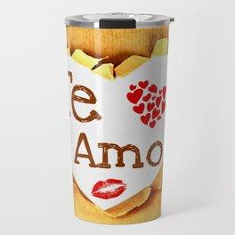 Te amo Broken paper Travel Mug