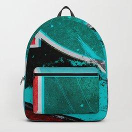 Texture marble blue modern scandinavian Backpack