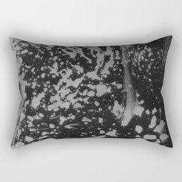 Abstract black gray watercolor splatters brushstrokes pattern Rectangular Pillow