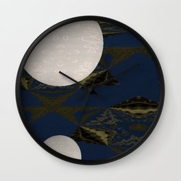 Opposed 3D 3 Wall Clock