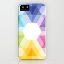 Fig. 021 Colorful geometric shapes Snowflake iPhone Case