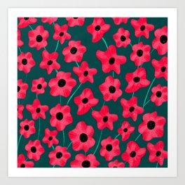 Poppies' field Art Print