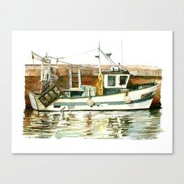 Honfleur - Pêche Traditionnelle Canvas Print