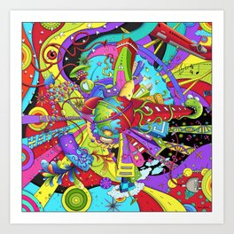 Out of Space by dana alfonso Art Print