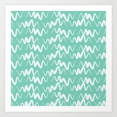 Acqua Line Art Print
