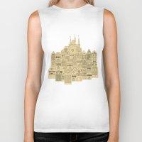 medieval Biker Tanks featuring medieval houses  by Elena Trupak