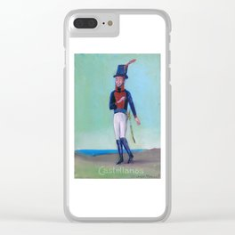 Soldado del Regimiento Castellanos Clear iPhone Case