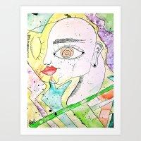 Face In Colors Art Print