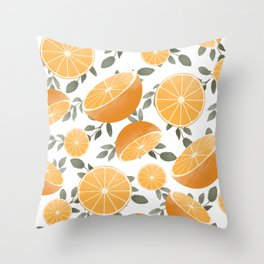 Sliced Up Throw Pillow