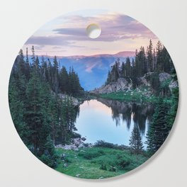 Hikers Bliss Perfect Scenic Nature View \ Mountain Lake Sunset Beautiful Backpacking Landscape Photo Cutting Board
