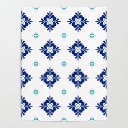 blue morrocan dream no3 Poster