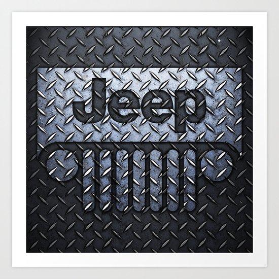 jeep logo Art Print