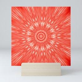 red Mandala Explosion Mini Art Print
