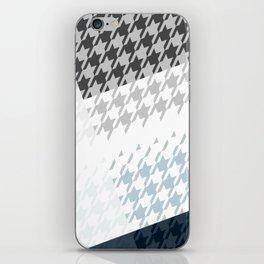 Modern Houndstooth Reinterpreted A – Navy / Gray / White Checked Pattern iPhone Skin