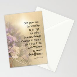 Serenity Prayer Quince and Fence 2 Stationery Cards